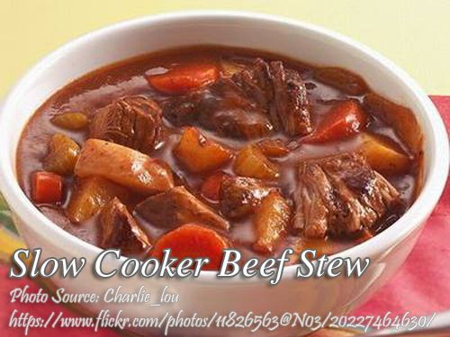 How To Cook Slow Cooker Beef Stew