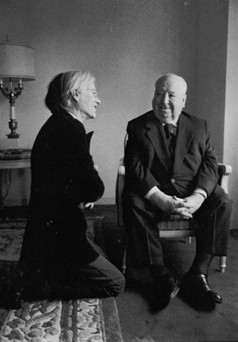 Andy Warhol AND Alfred Hitchcock: Film, Artists, Alfred Hitchcock, Alfredhitchcock, Icons, Andywarhol, People, Photo, Andy Warhol