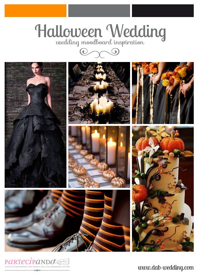 Inspiration board Halloween Wedding, Dab Wedding