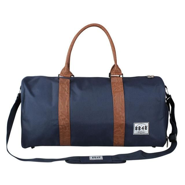 8848 Classical Unisex Duffel Bag Men Autumn Bags Cylindrical Canvas Bag Black Military Hand Pocket Travel Luggage D004