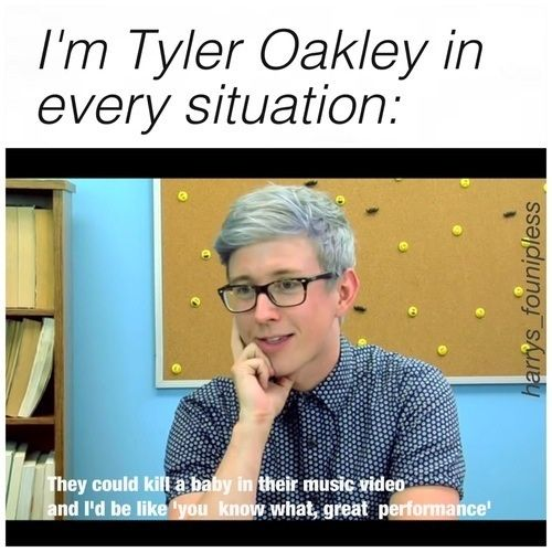 Tyler Oakley on Youtubers React to best song ever 1D