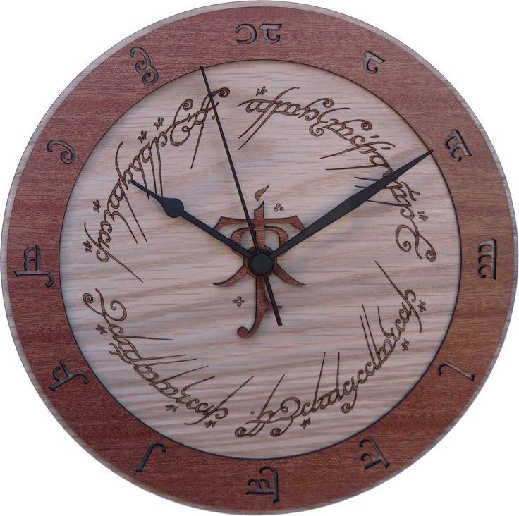 Reloj de madera de El Señor de los Anillos                                                                                                                                                                                 Más