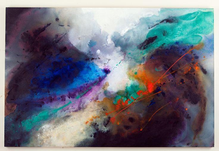 Walter Erra Hubert - within7without #3 - acrilico su tela - 4' x 6' (183 x 122 cm) - 2013  www.VillicanaDAnnibale.com