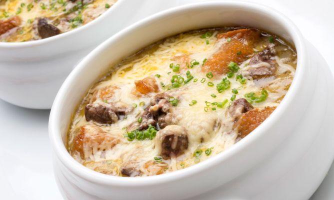 Receta de Sopa de puerro gratinada