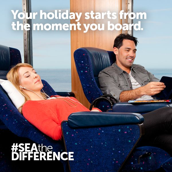 Your holiday starts from the moment you board.
