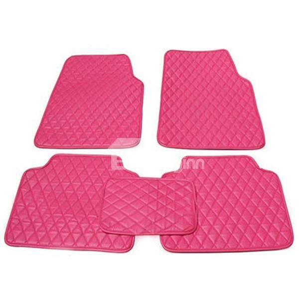 Easy Cleaning Dust Proof And Anti Dirt Pink Fashion Universal Car Floor Mats Car Floor Mats Cleaning Dust Floor Mats