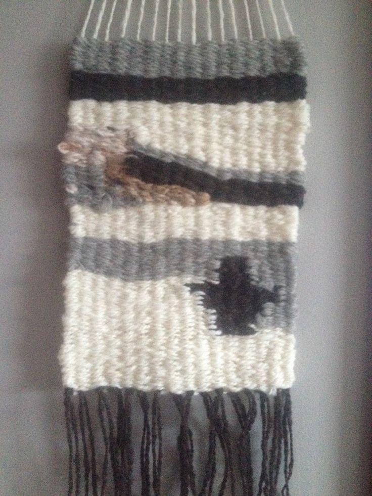 Wall Hanging; woven; wool; alpaca; handspun yarn; wall decor; home decorating; Ready to  Ship by NotJustAlpaca on Etsy https://www.etsy.com/listing/263189154/wall-hanging-woven-wool-alpaca-handspun