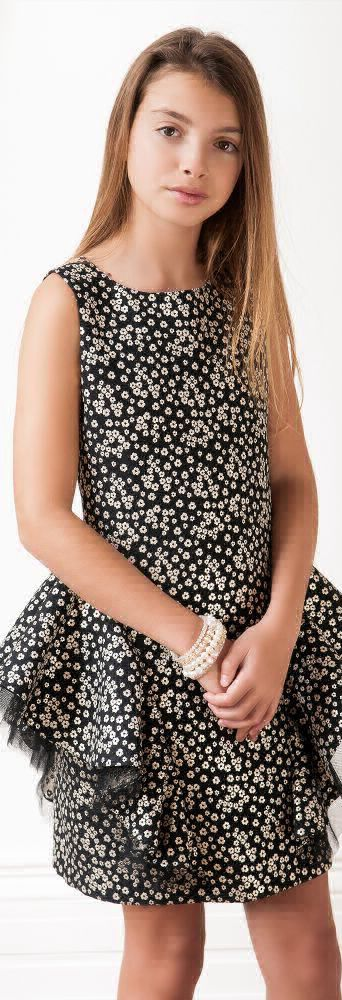 SALE !!! DAVID CHARLES Girls Designer Black & Gold Party Dress. Gorgeous & Sophisticated Look for Teen or Tween Girls. Perfect Fashion Forward Look for Girls going to a Special Occasion or Holiday Event. Love this Girls Dress for a New Years Party.  Made in London. Now on Sale!  #kidsfashion #fashionkids #girlsdresses #childrensclothing #girlsclothes #girlsclothing #girlsfashion #teenclothes #tweenclothes