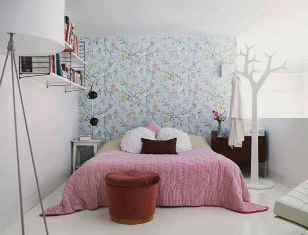 40 Design Ideas to Make Your Small Bedroom Look Bigger  I like the coat rack in this one