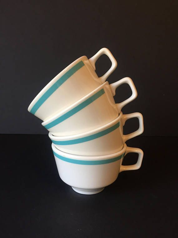 Vintage Homer Laughlin Restaurant Ware Diner Coffee Cups