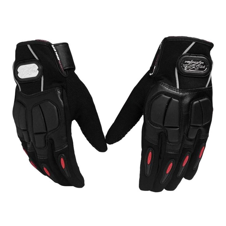 Motorcycle Racing Riding Protective Gloves Bicycle Riding Pro Gloves, Black, XL