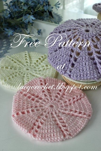 Lacy Crochet: Baby/Toddler Berets, Free Crochet Pattern matching dress in pintrest