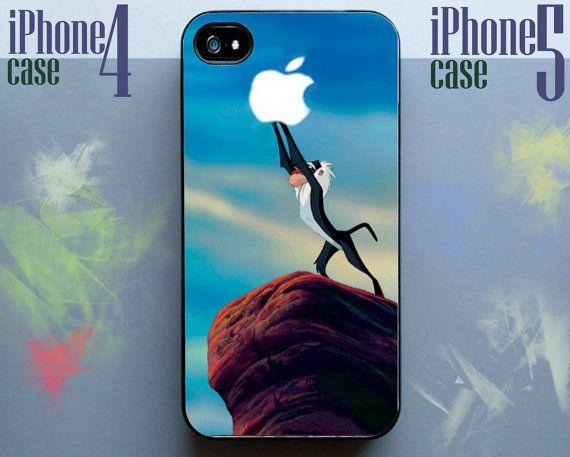 Lion King apple monkey disney Phone Case 4 & 4s,iphone 5