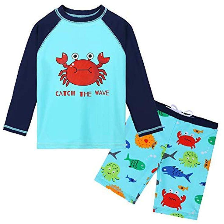 HUAANIUE Baby Junge Bademode Badeanzug Set Badebekleidung Sonnenschutzkleidung S…