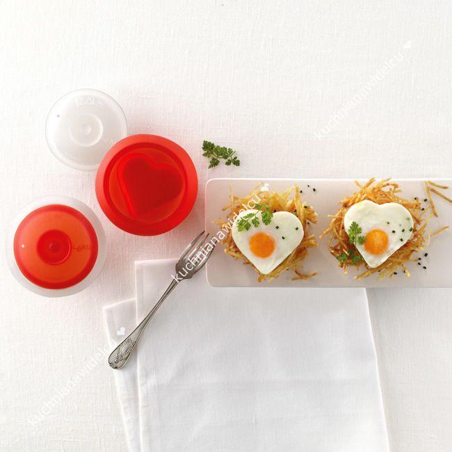 Naczynia do gotowania jajek - kształt serce   LEKUE OVO