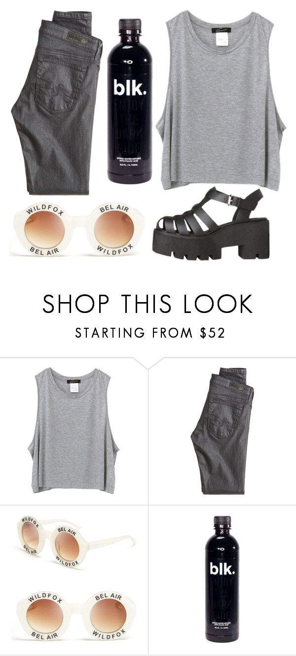 """""""Untitled #50"""" by sailorsasha ❤ liked on Polyvore featuring AG Adriano Goldschmied and Wildfox"""
