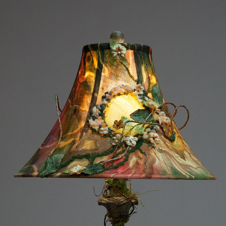 17 Best Images About Lamp Shades Decorated Painted And