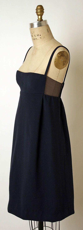 Perhaps the perfect little black dress. Dress, Evening James Galanos (American, born 1924) Date: 1966 Culture: American Medium: wool, silk