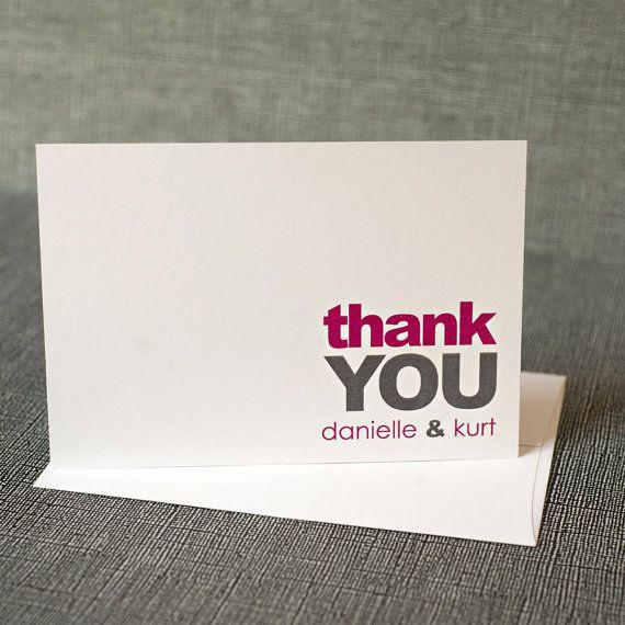 88 best Stylish Wedding Thank You Note Cards images – Customized Wedding Thank You Cards