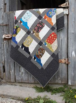 Texas Two Step Country Quilt Project. Foundation pieced. Would be nice with blocks set in attic windows ... Fons & Porter ... July/August 2015