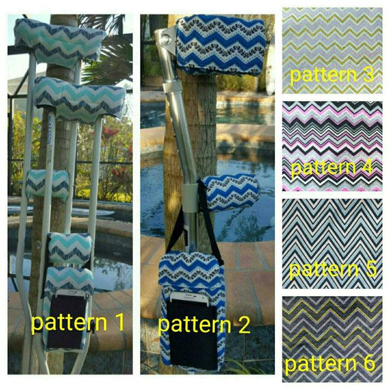 Chevron Crutch Covers by FractureFashionz on Etsy