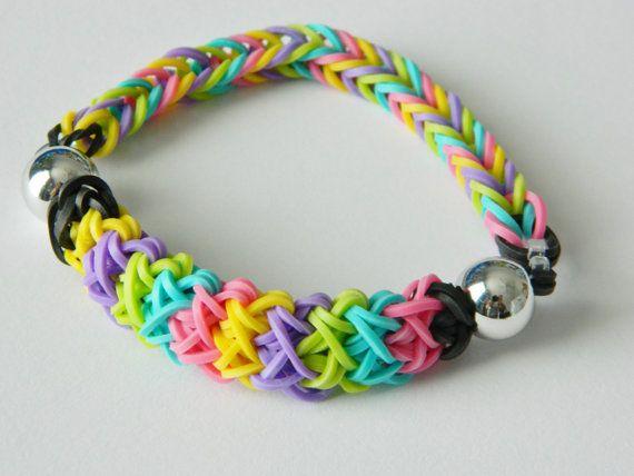Colorful Rainbow Loom Bracelet