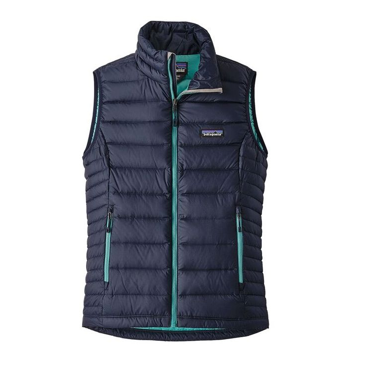 W's Down Sweater Vest, Navy Blue w/Strait Blue (NSTR)