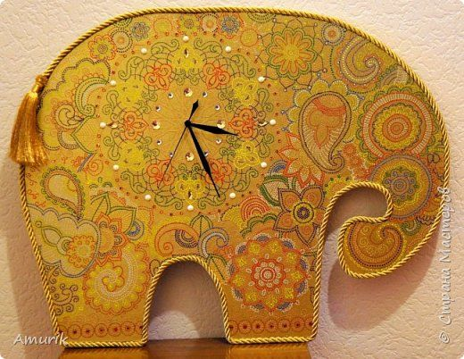 Слон-часы в индийском стиле фото 1