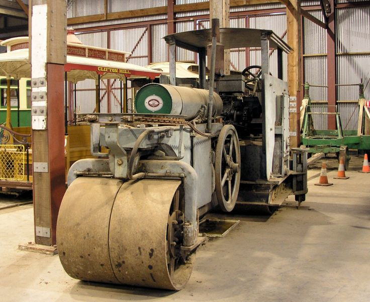 Not quite a tram, but this is the Ballarat Tramway Jelbart steam roller, now at the TMSV Museum at Bylands.