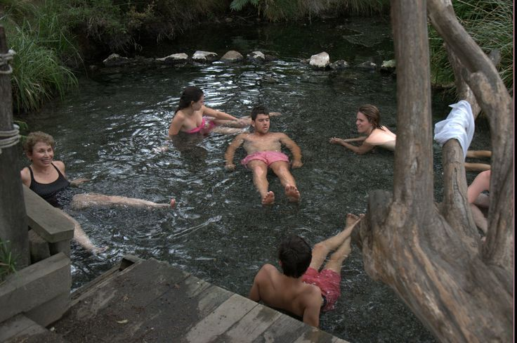 A geothermal pool is better shared with a group. Photo taken by David Walmsley.