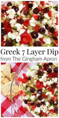 Greek 7 layer dip- h Greek 7 layer dip- hummus tzatziki ...  Greek 7 layer dip- h Greek 7 layer dip- hummus tzatziki  cucumbers feta and tomato. Served with pita chips. Fresh and delicious! Recipe : http://ift.tt/1hGiZgA And @ItsNutella  http://ift.tt/2v8iUYW