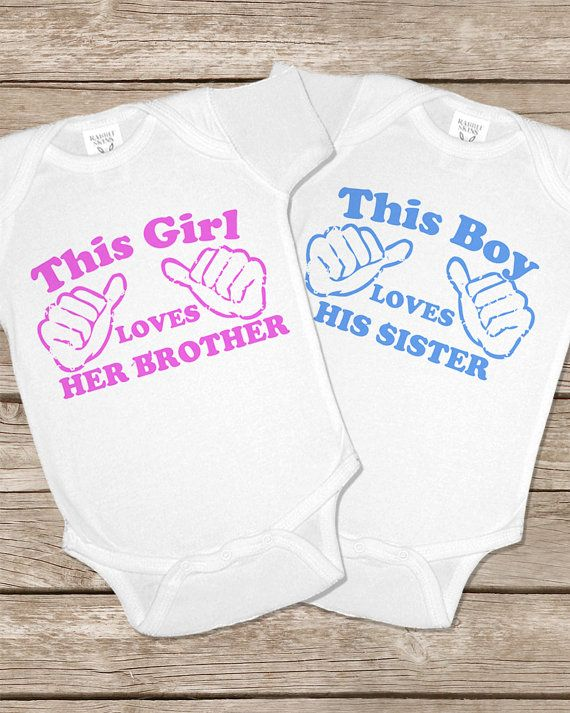 This Girl This Guy Onesie Funny Twins Baby Gifts Onesies Set Girls Boys Matching Twin Outfits shirt via Etsy