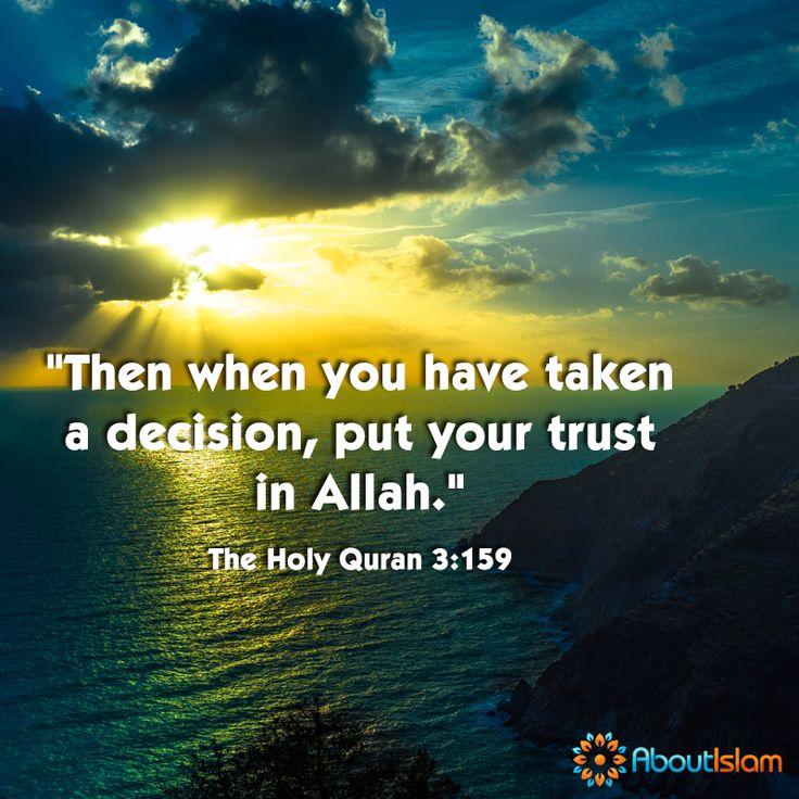 Put your trust in Allah! ☝  #Quran #Islam #Faith