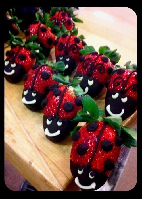 Ladybug Strawberries… | Pinterest Most Wanted