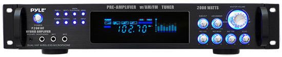 2000 Watt Hybrid Hybrid Home Stereo Receiver Amplifier with AM/FM Tuner - Audio Inputs & Outputs