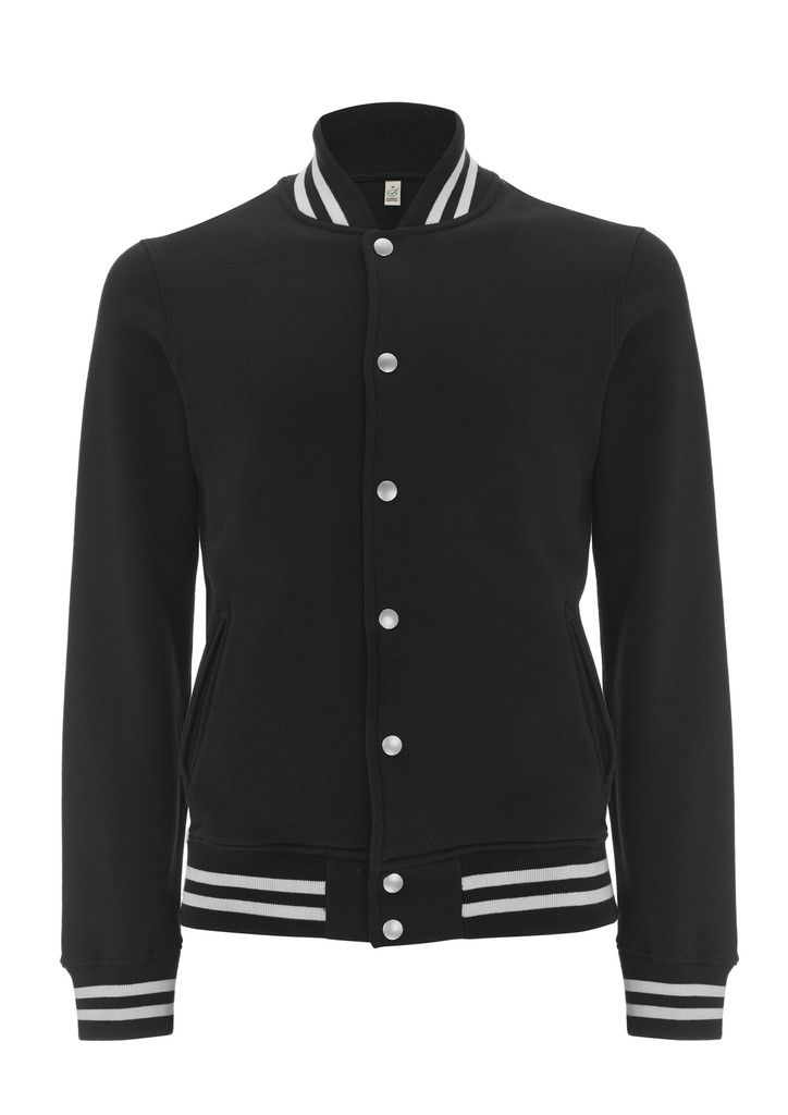 Veste Teddy Bio, Varsity Organic Jacket - Black & White #ArteCita #ECOFashion #Bio #GreenIsTheNewBlack