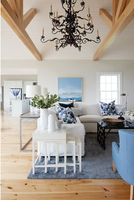 Love the light fixture, the colour palatte referencing the nearby shore.