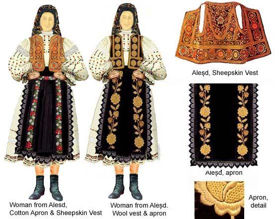 Romanian folk costume - Transylvania - Bihor (Alesd)