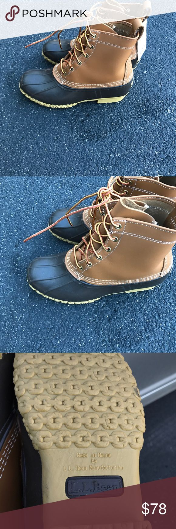 L.L. Bean Boots Women's Size 9 NWT L.L. Bean boots size 10 for women. They do have a mark from being at the outlet. It's on the left heel. Barely noticeable when wearing the boots. The tag says 9 on it but the boot is a 10 based on the letter on the bottom of the boot. L.L. Bean Shoes Winter & Rain Boots
