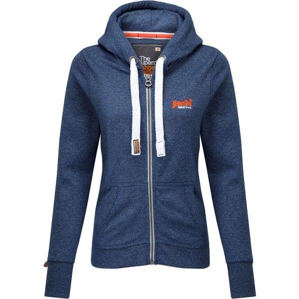 Superdry Orange Label Zip Hoodie (190 BRL) ❤ liked on Polyvore featuring tops, hoodies, blue, women, zip up hoodies, hooded sweatshirt, blue zip hoodie, zipper hoodie and hooded zip up sweatshirt