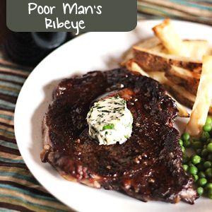 "Chuck Eye Steak Recipe: ""The Poor Man's Ribeye"" Tastes just as good as a ribeye, but is affordable enough to serve to a group."