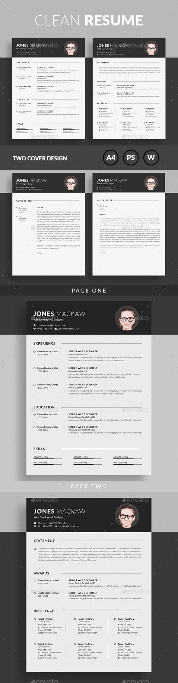 24 best Cv images on Pinterest | Resume design, Resume templates ...