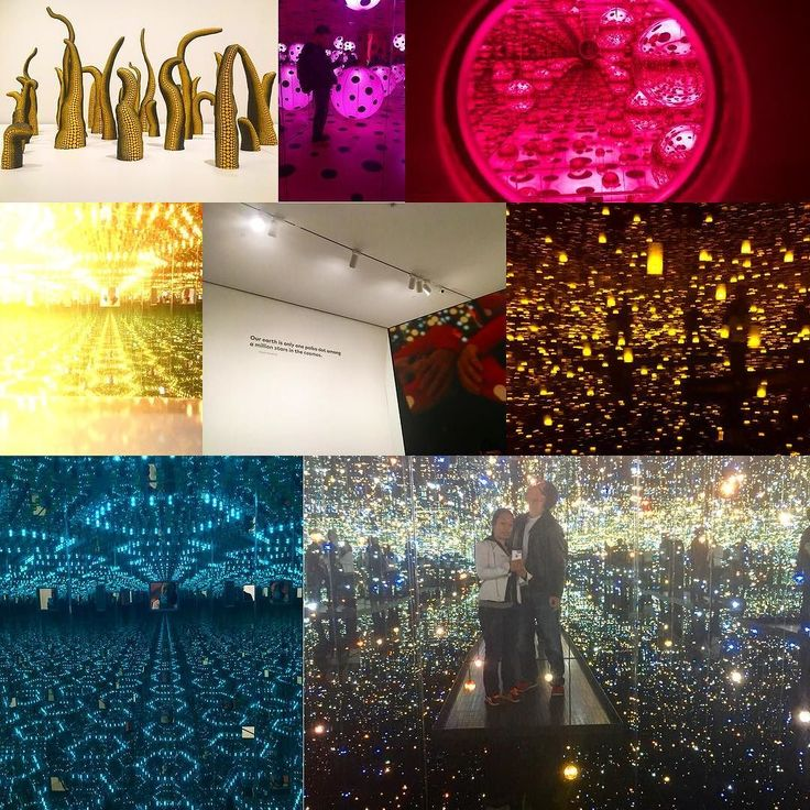 #infinitekusama #infinitymirrors were awesome. Wish I had more time in each room. Even at 30 seconds a pop the gallery is staying open an extra 30 hours a week for Theo exhibition.