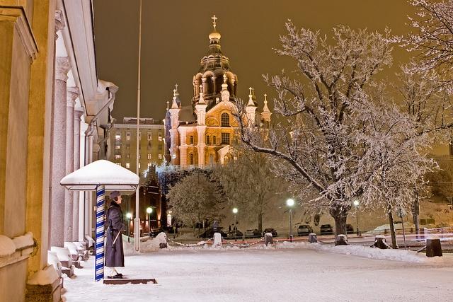 Main guard and Uspenski cathedral