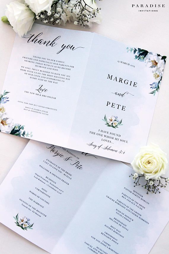 62 best Wedding Programs images on Pinterest Bridal invitations