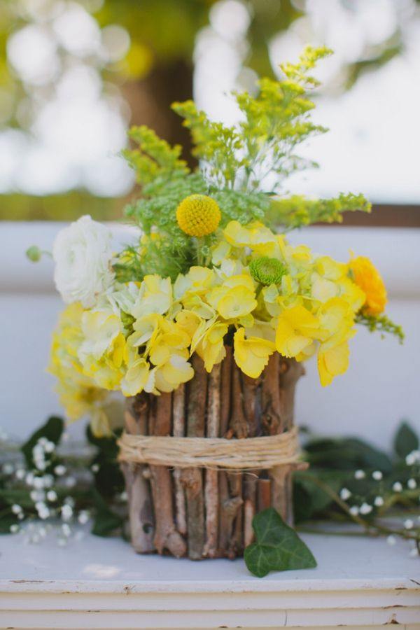It's these kinds of weddings with blue and yellow rustic spring wedding ideas and DIY details that will leave you weak in the knees and breathless.