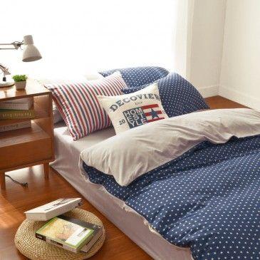 romantic blue star print bedding set for winter elegant western modern bed set kids twin size