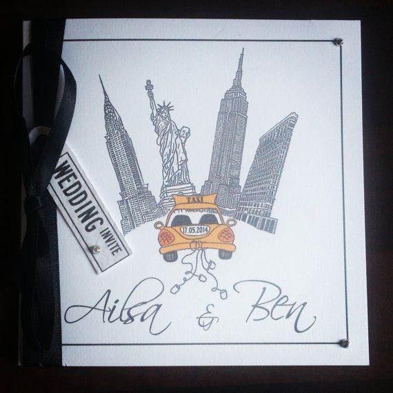 New York City Wedding Invitation by OnlybyKnight on Etsy, £3.00
