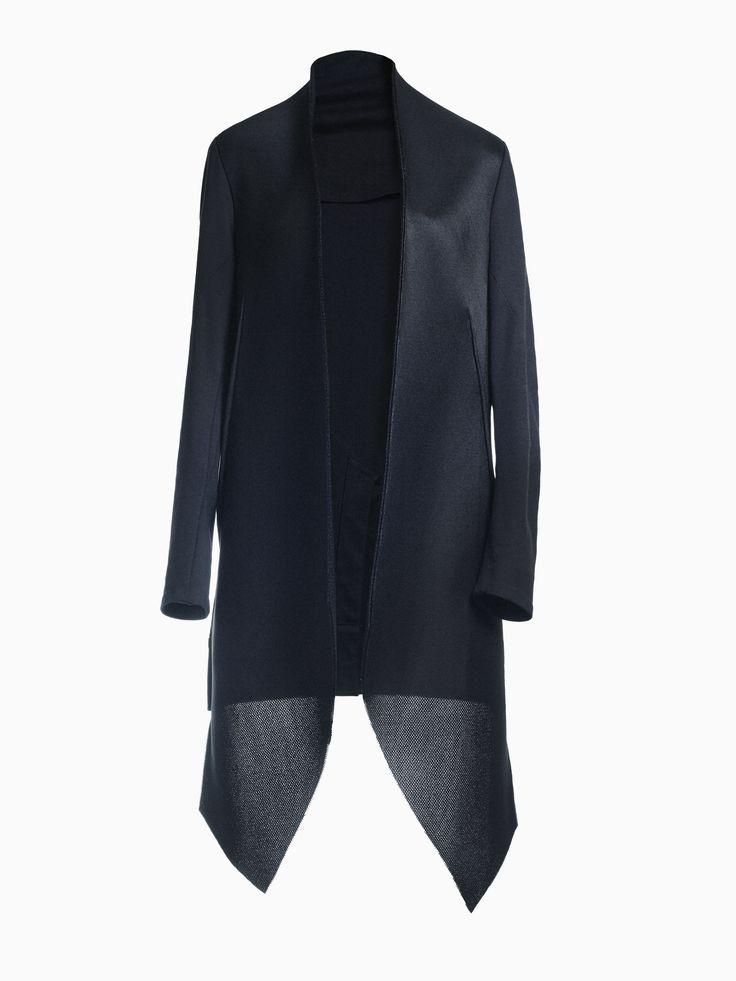 Neoprene And Jersey Tailcoat • HANA ZARUBOVA