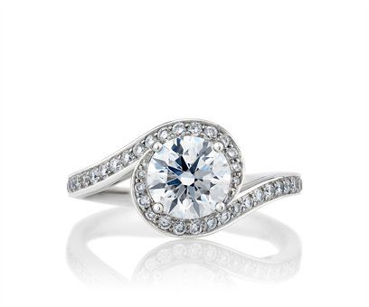 De Beers Caress Diamond Engagement Ring